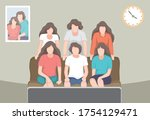 happy family watching news at... | Shutterstock .eps vector #1754129471