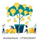 vector flat illustrations ... | Shutterstock .eps vector #1754133347