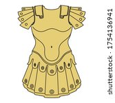detail armour for a coat of... | Shutterstock .eps vector #1754136941