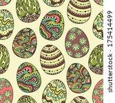 easter eggs seamless. | Shutterstock .eps vector #175414499