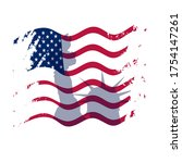 creative american flag with... | Shutterstock .eps vector #1754147261