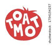 fresh tomato vegetable for... | Shutterstock .eps vector #1754154257