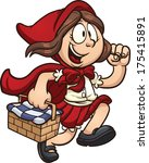 little red ridding hood. vector ... | Shutterstock .eps vector #175415891