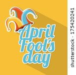 april fools day over yellow... | Shutterstock .eps vector #175420241