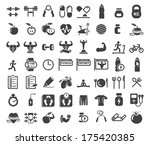 health and fitness icons on... | Shutterstock .eps vector #175420385