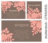 set of invitations | Shutterstock .eps vector #175424531