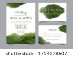 wedding invitation cards with... | Shutterstock .eps vector #1754278607