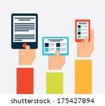technology design over  white ... | Shutterstock .eps vector #175427894
