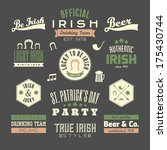 a set of st. patrick's day... | Shutterstock .eps vector #175430744