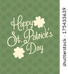 typographic style greeting card ... | Shutterstock .eps vector #175433639