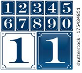 set of house numbers. one digit ... | Shutterstock .eps vector #175434851