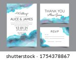 wedding invitation cards with... | Shutterstock .eps vector #1754378867