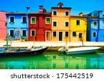 Venice Landmark  Burano Island...