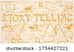 vector illustration of hand... | Shutterstock .eps vector #1754427221