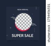 fashion super sale social media ...   Shutterstock .eps vector #1754456531