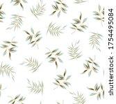 all over vector green leaf...   Shutterstock .eps vector #1754495084