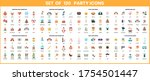 party icons set for business ... | Shutterstock .eps vector #1754501447