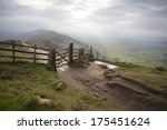Gate On Mountain On A Misty...
