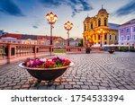 Timisoara, Romania - St. George Cathedral in Union Square, Banat in Transylvania