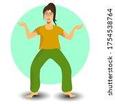 girl in the yoga asana pose... | Shutterstock .eps vector #1754538764