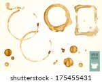 coffee stain  isolated on white ... | Shutterstock .eps vector #175455431