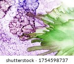 Alcohol Ink Art. Violet And...