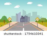 image of a city open after...   Shutterstock .eps vector #1754610341