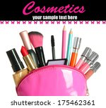 beautiful make up bag with... | Shutterstock . vector #175462361