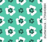 seamless pattern with a... | Shutterstock .eps vector #1754643884