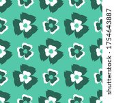 seamless pattern with a... | Shutterstock .eps vector #1754643887