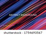 multi colored diagonal dynamic... | Shutterstock .eps vector #1754693567