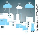 cloud computing connectivity... | Shutterstock .eps vector #175469669