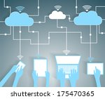 cloud computing paper cutout... | Shutterstock .eps vector #175470365