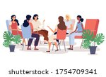 group therapy session with... | Shutterstock .eps vector #1754709341