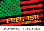 juneteenth freedom day. african ... | Shutterstock .eps vector #1754756231