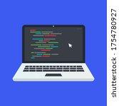 laptop web programing concept ...