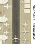 top view of an airport with 3... | Shutterstock .eps vector #175478987