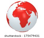 earth planet globe. 3d render.... | Shutterstock . vector #175479431