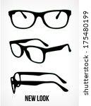 vector glasses silhouette.... | Shutterstock .eps vector #175480199
