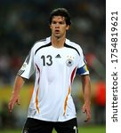 Small photo of Dortmund, GERMANY - July 04, 2006: Michael Ballack looks on during the 2006 FIFA World Cup Germany Germany v Italy at Westfalenstadion.