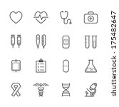 medical icons | Shutterstock .eps vector #175482647