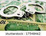 Silver Handcuff And Dollar Ban...