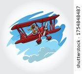 cute little dog mascot animal... | Shutterstock .eps vector #1754848487