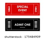 special red black event ticket | Shutterstock .eps vector #175484909