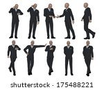 businessman  different poses set | Shutterstock . vector #175488221