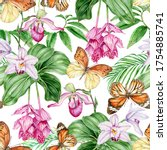 Orchids  Tropical Leaves And...