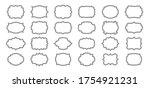 label frames line set. black...   Shutterstock .eps vector #1754921231