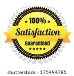 100 percent satisfaction... | Shutterstock .eps vector #175494785