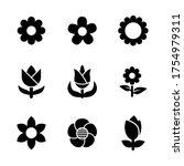 flower icon set glyph style... | Shutterstock .eps vector #1754979311