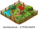 secluded country house and...   Shutterstock . vector #1755014654
